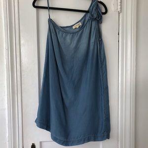 Anthropologie Cloth & Stone One Shoulder Tie Dress